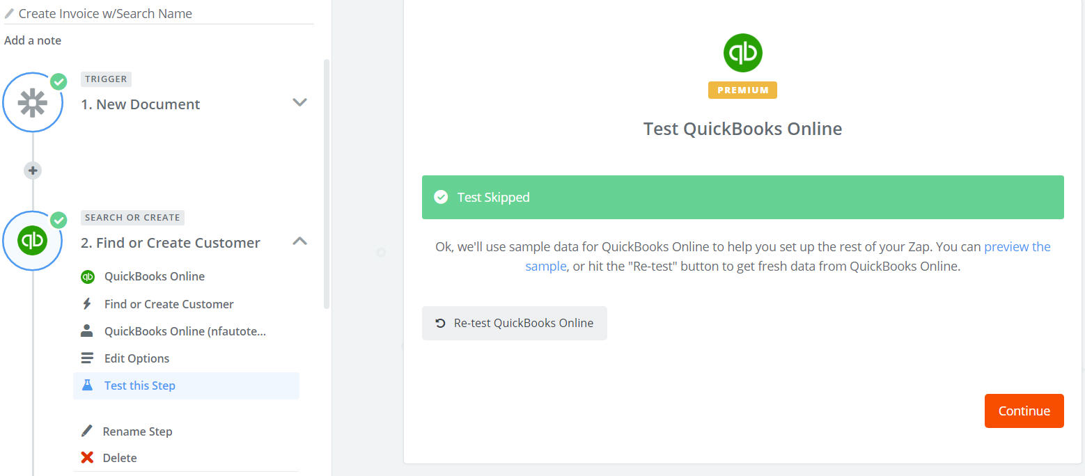 zapier.Quickbooks.FindCustomer.TestStep.Successful.jpg